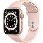 Купити Apple Watch Series 6 GPS 44mm Gold Aluminium Case with Pink Sand Sport Band (M00E3UL/A)