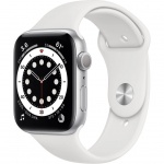 Купити Apple Watch Series 6 GPS 44mm Silver Aluminium Case with Sport Band (M00D3UL/A) White