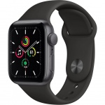 Купити Apple Watch SE GPS 40mm Space Gray Aluminium Case with Black Spor (MYDP2UL/A)