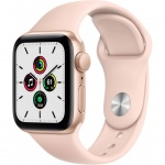 Купити Apple Watch Series SE GPS 44mm Gold Aluminium Case with Pink Sand Sport Band (MYDR2UL/A)