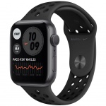 Купити Apple Watch Nike Series SE GPS 44mm Space Gray Aluminium Case with Anthracite (MYYK2UL/A) Black