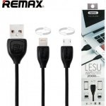 Купити Кабель Remax RC-050t 2in1 Lightning/MicroUSB Black (59889)